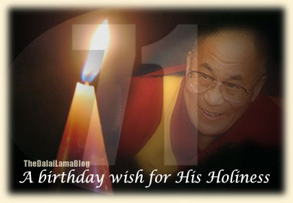 A Birthday Wish For His Holiness The Dalai Lama